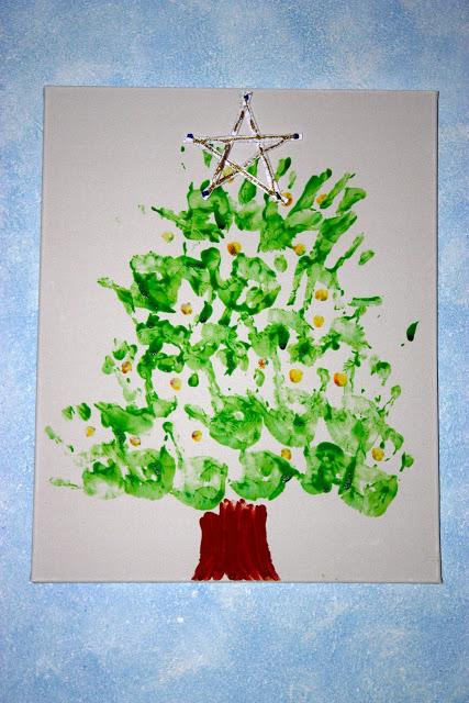 Quadro con Albero di Natale