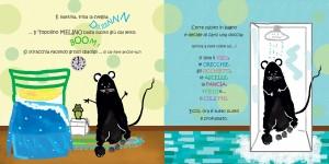 """Estratto di pagine dal Libro per Bambini """"Il Topolino Melino va Cantando"""" di Nunzia Bruno."""
