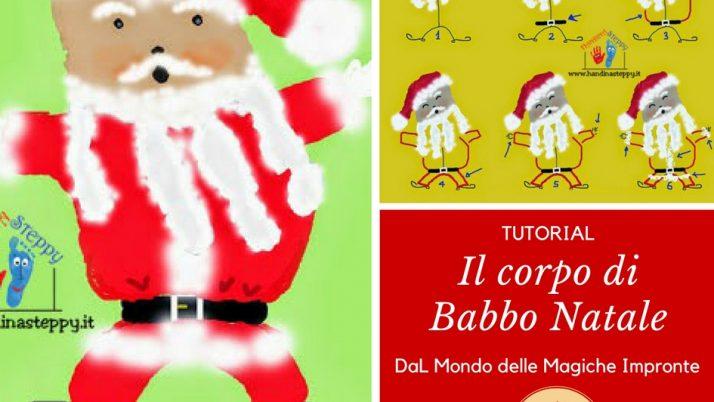 Un Babbo Natale disegnato con le Mani