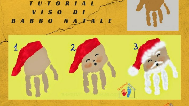 Babbo Natale con Impronta della Mano