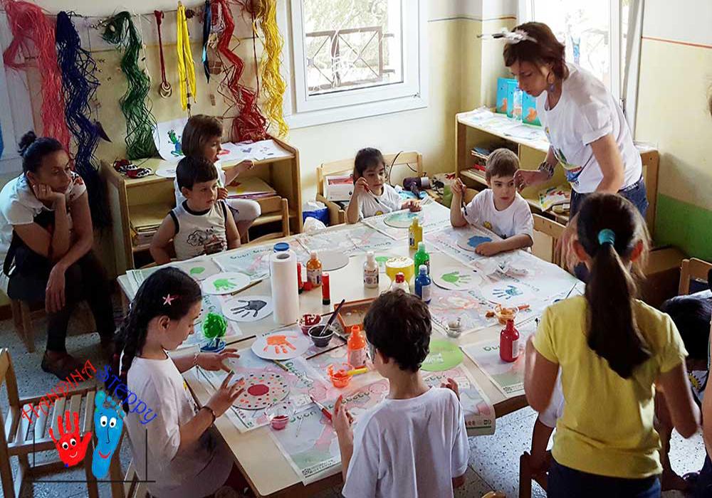 """Progetti di Lettura e Laboratori Creativo-Didattici per Bambini con i Libri della collana """"Handina & Steppy"""" e le Impronte in Trasformazione"""