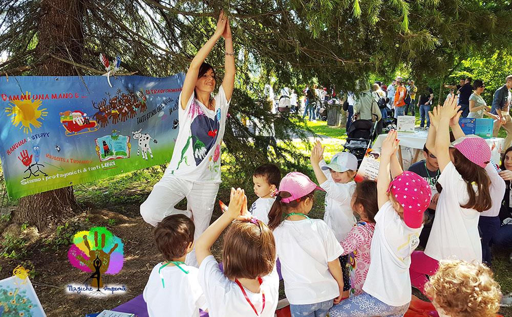 Introduzione allo Yoga Educativo per Bambini - Asana alla Passeggiata dei Paperini di Marcon (Venezia) con Nunzia Bruno