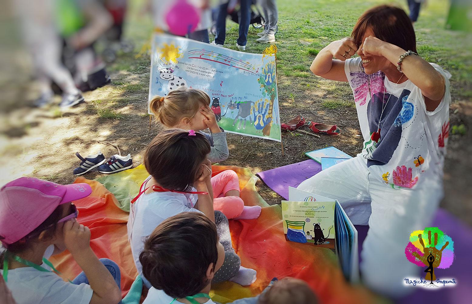 Le Fiabe dei miei Libri con le Impronte utili nello Yoga Educativo per Bambini.Trasmettono aspetti morali da abbinare ad Asana e Mudra con tanta creatività.