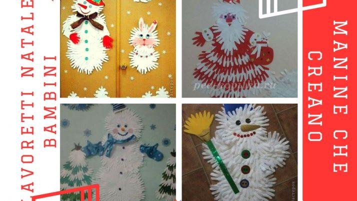 Personaggi del Natale fatti con le mani