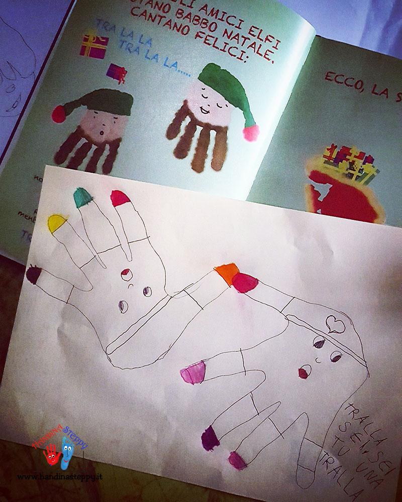 disegnare elfo-con-impronta-piede-bambino