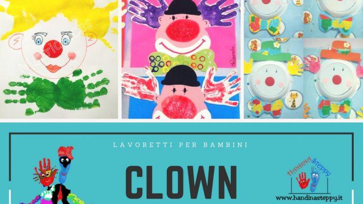 Capelli del Clown fatti con le Impronte