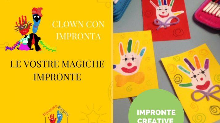 Viso del Clown fatto con le Impronte