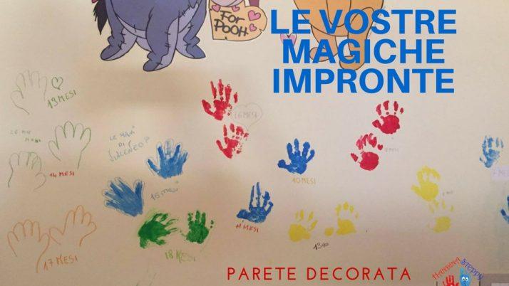 Parete con Impronte di mani che decorano