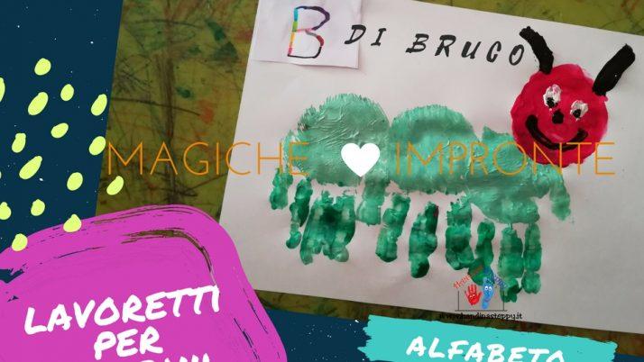 B come Bruco-Alfabeto con Impronte