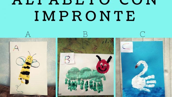 Lettere Alfabeto con Impronte-A B C