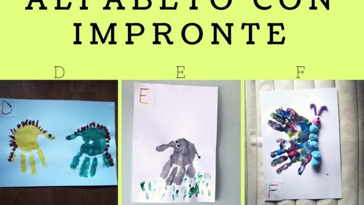 Lettere Alfabeto con Impronte-D E F
