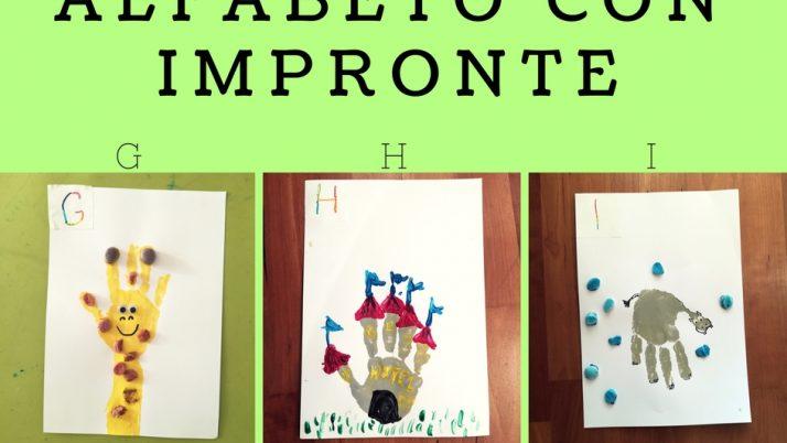 Lettere Alfabeto con Impronte-G H I