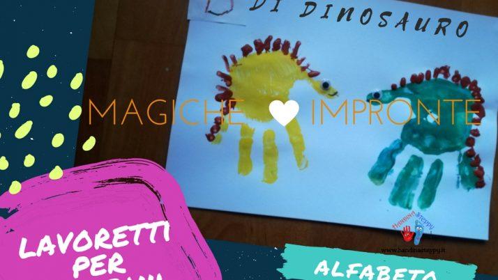 D come Dinosauro-Alfabeto con Impronte