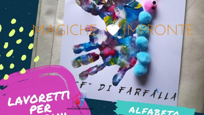 F come Farfalla-Alfabeto con Impronte