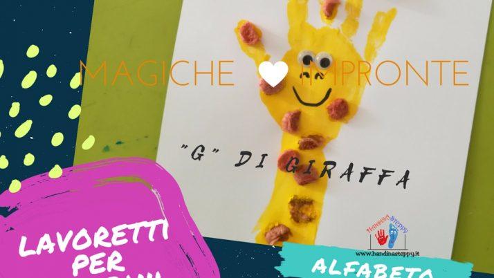 G come Giraffa-Alfabeto con Impronte