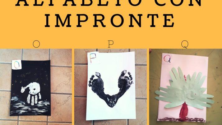 Lettere Alfabeto con Impronte-O P Q