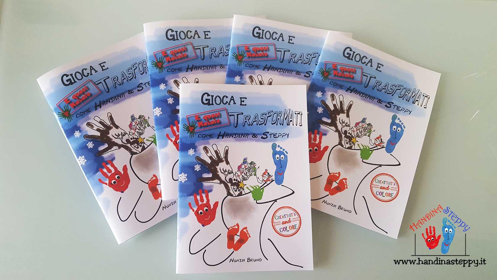 album creativo per bambini con impronte
