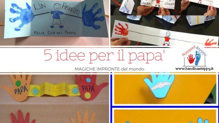 Cinque idee per la festa del papà o della mamma – lavoretti con le impronte