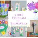 Addobbi floreali di primavera - impronte dei bambini