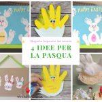 Idee per la Pasqua con Impronte dei Bambini - Lavoretti Creativi