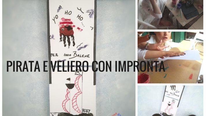 Pirata e Veliero con Impronta-lavoretti creativi per bambini
