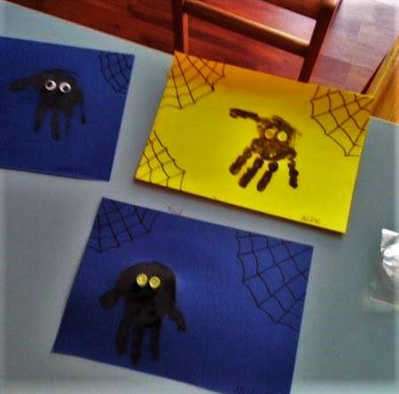 ragno con impronta