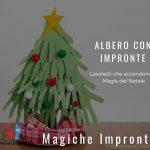 Albero di Natale con Impronte su materiale di riciclo - Lavoretti bambini