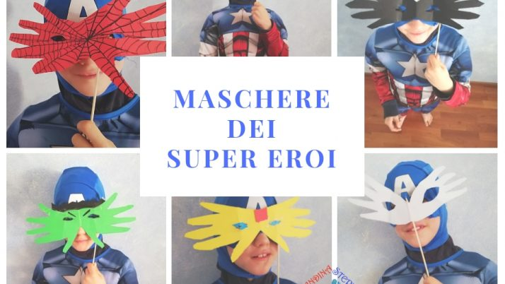 Maschere dei super eroi-impronte in trasformazione