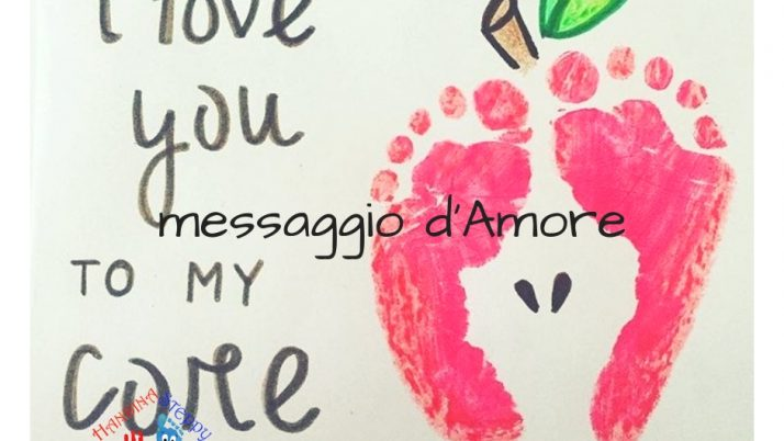 Una mela ai nostri piedi -messaggio d'amore