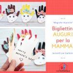 Bigliettini personalizzati per la Mamma - impronte dei bambini