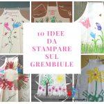 Stampe con le Impronte sul Grembiule - idea regalo per la mamma