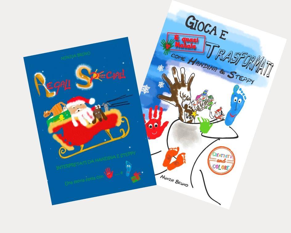 """Libro di Natale """"Regali Speciali"""" in abbinamento all'Album """"Gioca e Trasformati"""" di Nunzia Bruno. Per una nuova idea regalo in vista del prossimo Natale."""