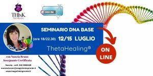 Theta Healing ® On-Line -seminario DNA Base – Nunzia Bruno – Luglio 2021